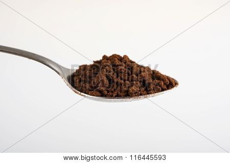 Coffee spoon on white background