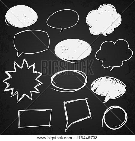 Set of message bubbles.