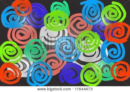 colourful swirls