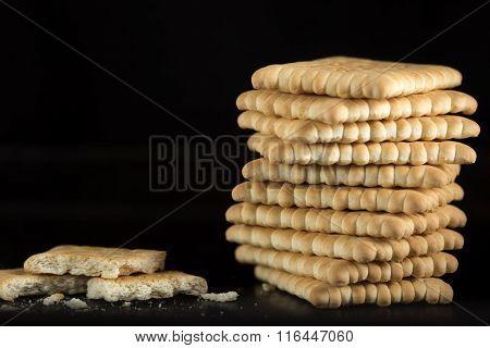 Stack Of Crispy Crackers