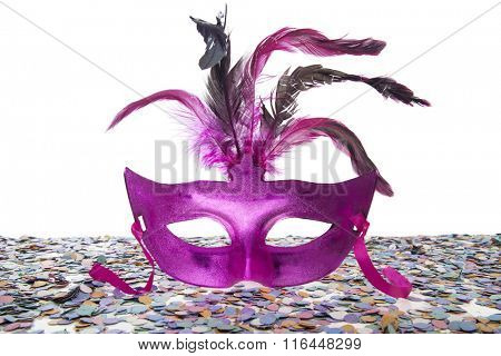 Behind The Purple Mask on white background