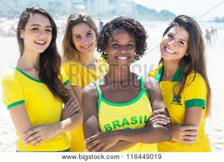 Group Of Happy Brazilian Girls