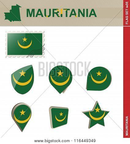 Mauritania Flag Set, Flag Set #55