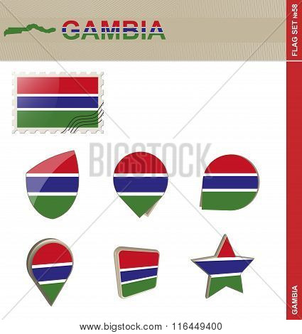 Gambia Flag Set, Flag Set #58