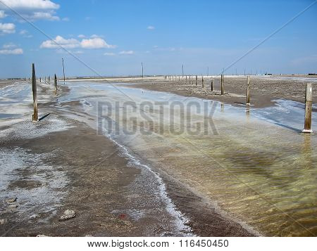 Baskunchak salt extraction, Russia