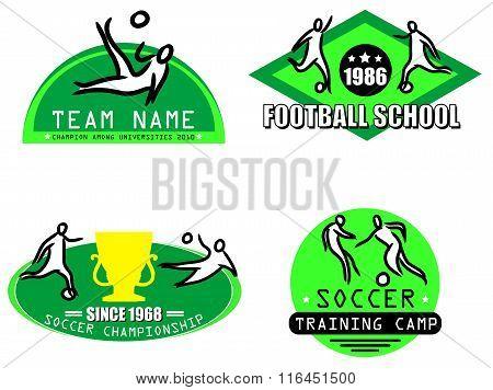 football logo set