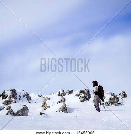 Winter with limestone