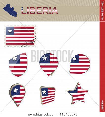 Liberia Flag Set, Flag Set #62