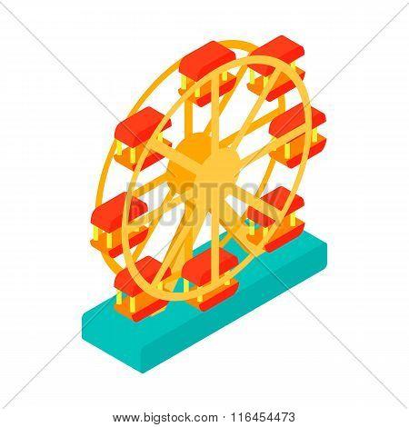 Ferris wheel isometric 3d icon