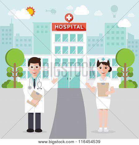 Medical And Hospital Flat Design