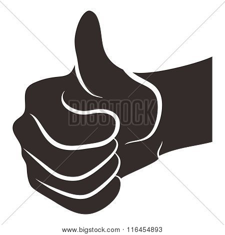 Vector Realistic Thumb Up Portrait Illustration