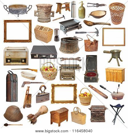 Collection Of Isolated Vintage Objects