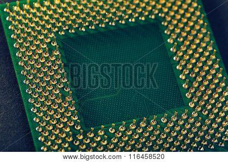 Computer processor, close up