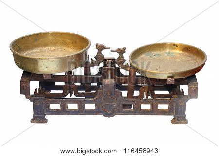 Old Metallic Weighing Scale