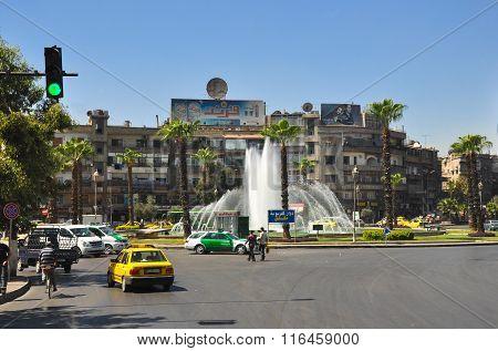 City center before the war Damascus