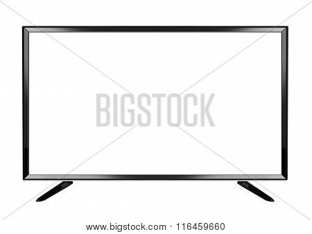 Isolated Oled Flat Smart Tv On White Background