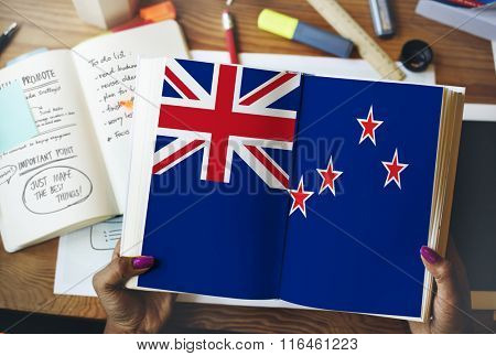 New Zealand Flag Liberty Country Concept