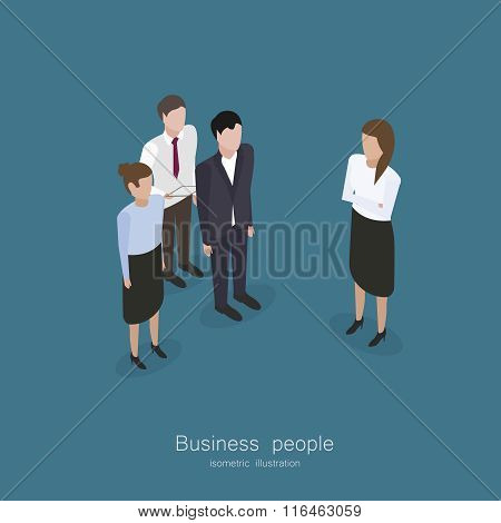 Business meeting people