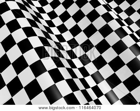 Sports background - abstract checkered flag