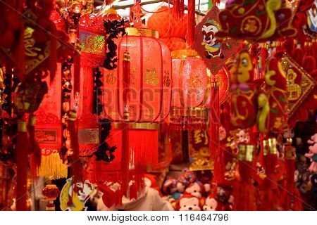Traditional Chinese red lamp
