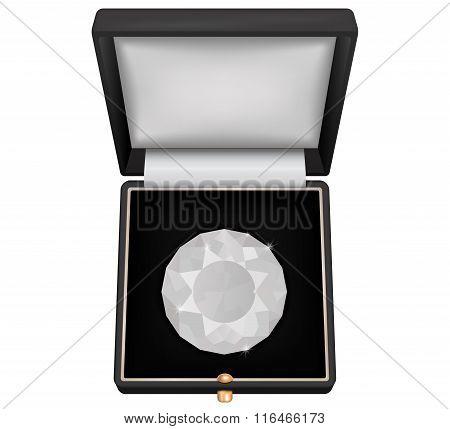 Brilliant Gem In Jewelry Gift  Box.
