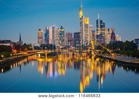 Frankfurt am Mine at night, Germany