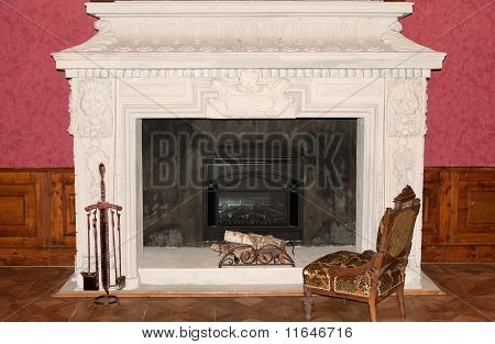 Ancient fireplace