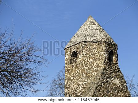 Tower Of A Monastery Ruin