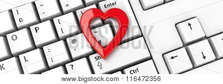 Heart Icon On Keyboard #2