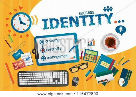 Identity Design Concept. Typographic Poster.