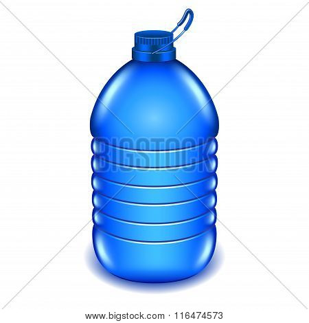 Five Liter Plastic Water Bottle Isolated On White Vector