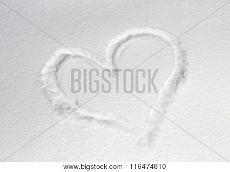 Figure Heart In The Snow