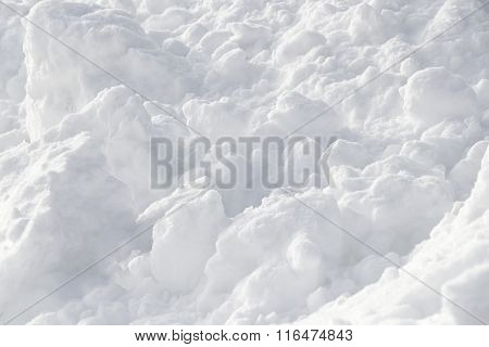 White Snow Clods