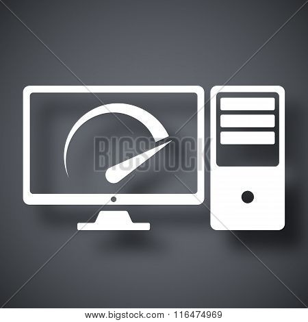 Vector Speed Test Computer Icon