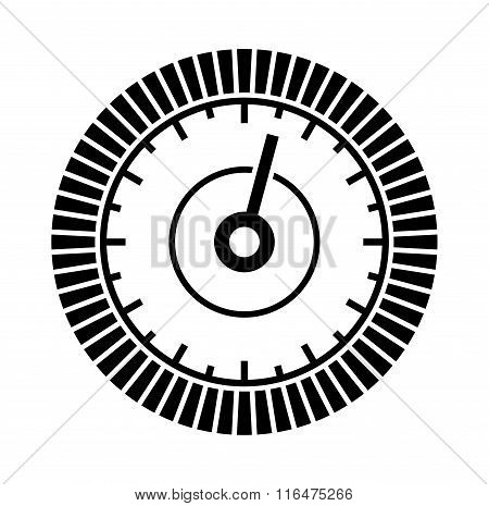 Dial Sign Template with Segmented, Level Indicator. Vector