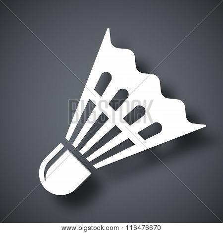 Vector Badminton Shuttlecock Icon