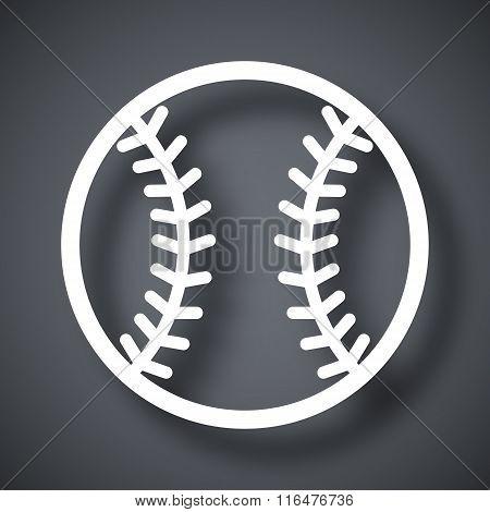Vector Baseball Icon