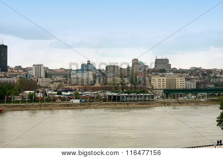 Capital Serbian City-belgrade Panorama