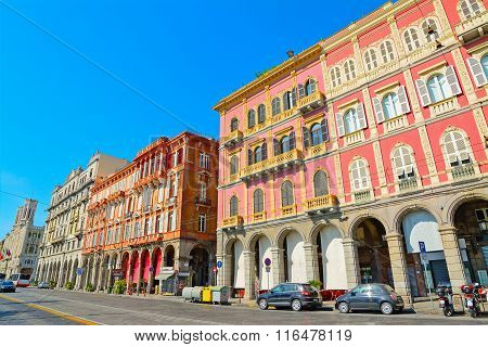 Beautiful Buildings In Cagliari Seafront