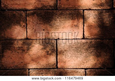 Red Brick Wall Suitable For  Background.