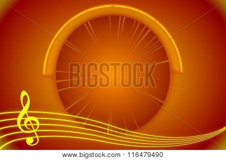 Red And Gold Abstract Music Background
