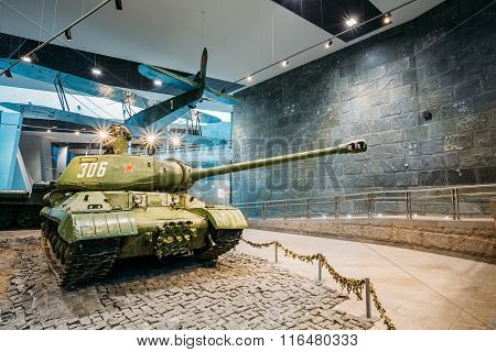 Soviet russian heavy tank IS-2 In The Belarusian Museum Of The G