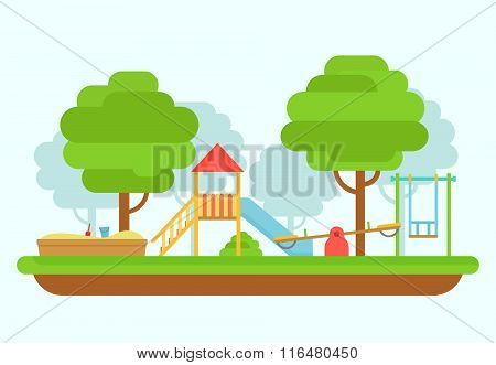 Playground Vector Illustration