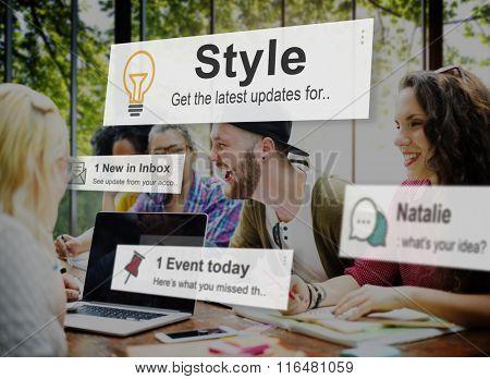 Style Trendy Fashionista Designer Chic Concept