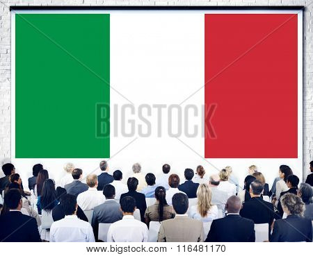 Italy Country Flag Liberty National Concept