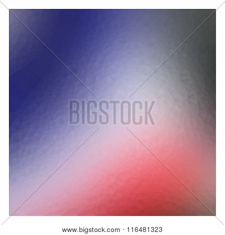 Illustration Vector Red Blue Triangle Abstract Background, Square Design For Every Artwork.