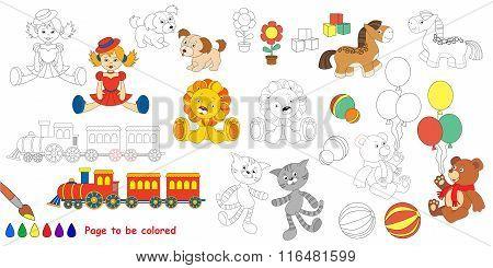 Kid toys. Big coloring book.