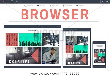 Browser Search Engine Browsing Web Page Technology Concept