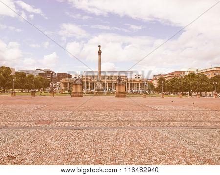 Schlossplatz (castle Square) Stuttgart Vintage