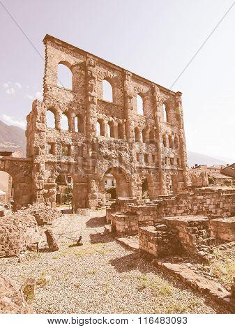 Roman Theatre Aosta Vintage